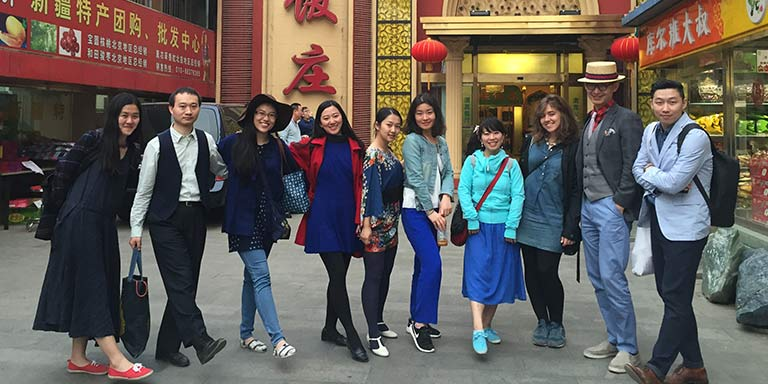A group of students in China